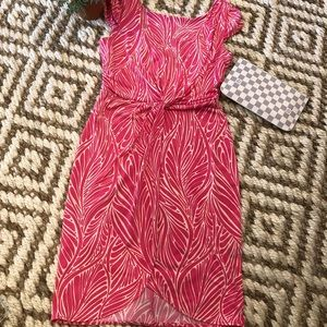 Victoria Secret pink and white leaf print dress